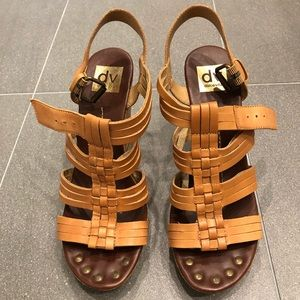 Dolce Vita Tan Leather Wedges